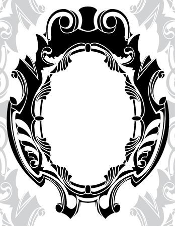 cliche: Marco decorativo cl�sica un clich�, ilustraci�n vectorial para el dise�o