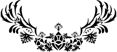 Fantasy crown with wings stencil illustration Stock Vector - 8412587