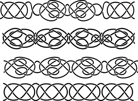 Keltische grens naadloze stencil set