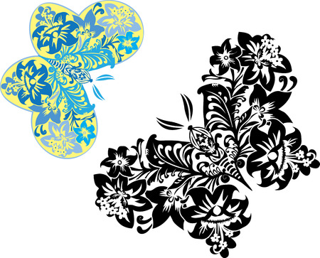 Magic butterflies consisting of flowers Stock Vector - 8463210