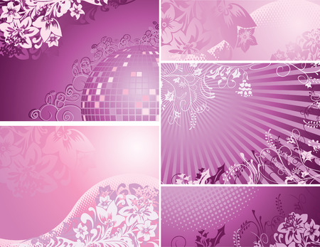 Pink and purple backgrounds collection Stock Vector - 8476041