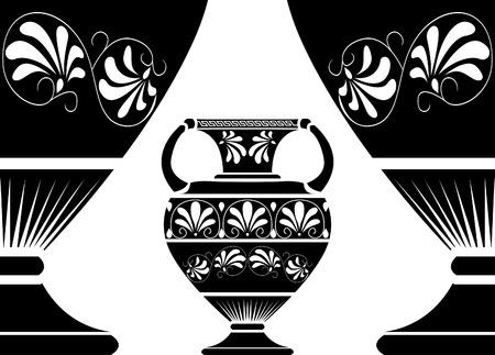 decorative urn: Ancient Greek amphora Illustration