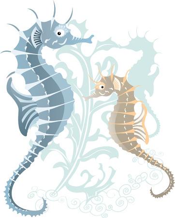 sea-hose in the underwater  Illustration