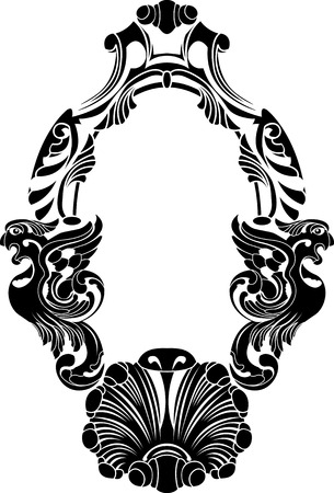 Classical decorative framework stencil Stock Vector - 8746614