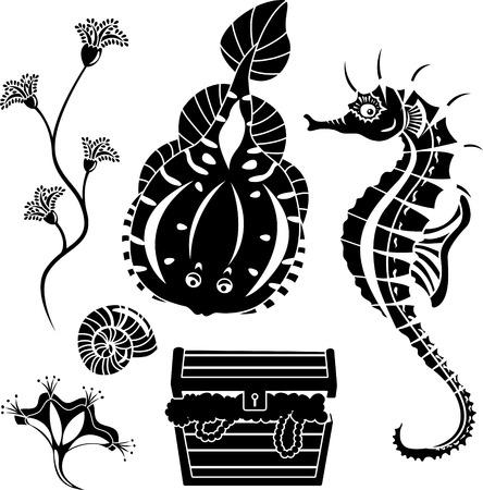 seaweed: conjunto de mundo submarino de clich�