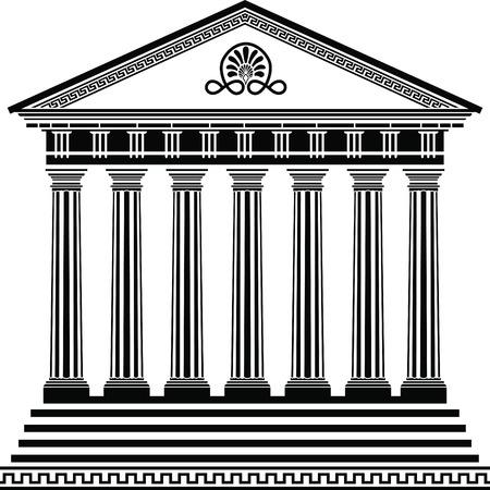 Segunda variante de Galería de símbolos de templo griego Ilustración de vector