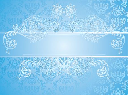 blue background with floral elements Stock Vector - 8951768