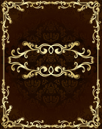 Vintage template with floral pattern Stock Vector - 9059561