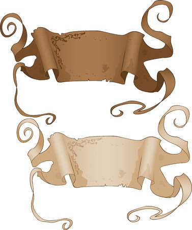 Antique Style Banners vector illustration for web Vector