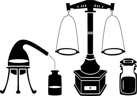 retort: Alchemy stencil set Illustration