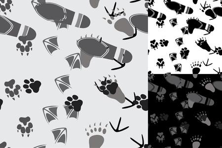 vogelspuren: Tierische und menschliche Spuren nahtlose