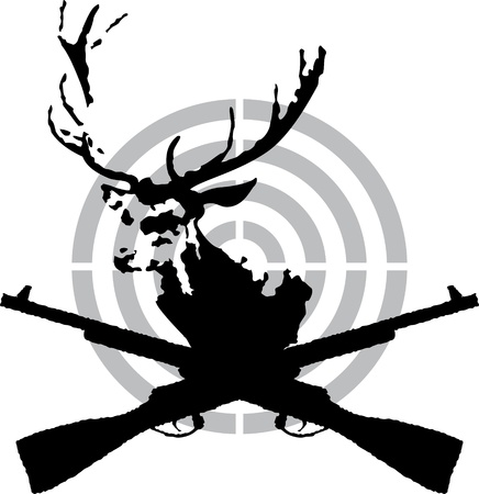 Deer hunt symbol Vector