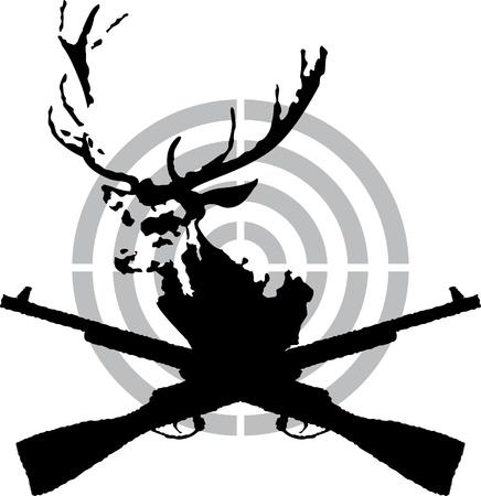 fusil de chasse: Symbole de la chasse au cerf