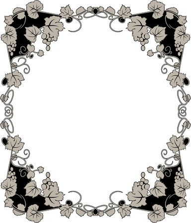 black grape: graceful grapevine  framework