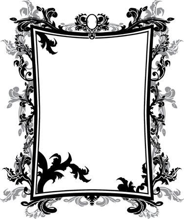 Ornate vintage frame stencil Stock Vector - 10453701