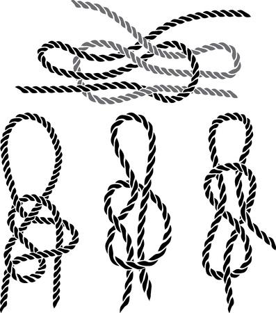 Sea knoop te stellen stencil. vector illustratie voor web