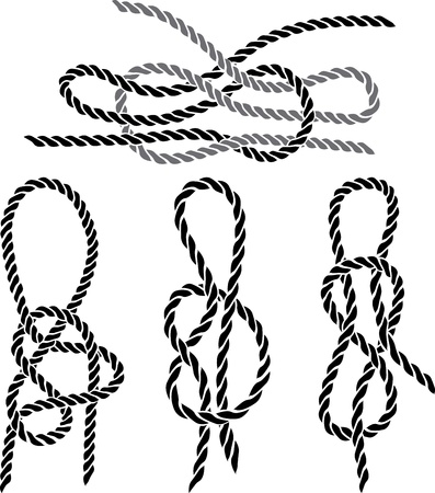 sailer: Sea knot set stencil. vector illustration for web