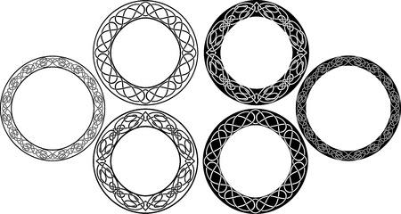 celtic culture: Celtic circle set. vector illustration for web