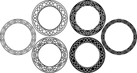 Celtic cirklar set. vektor illustration för webb Illustration