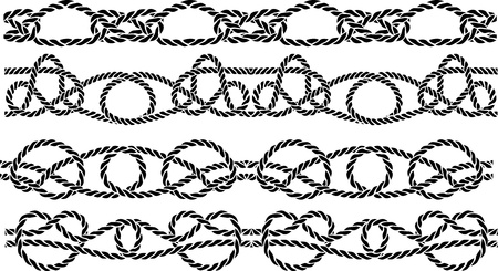 Sea knot decoration seamless pattern set Vector