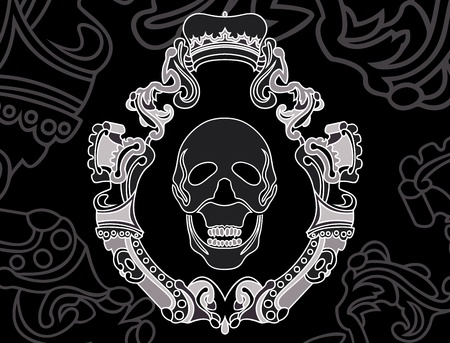 skull shield background. vector illustration for web Stock Vector - 11871360
