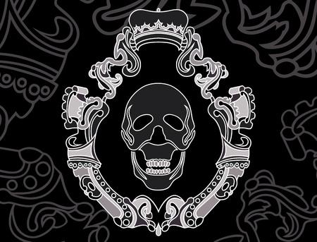 skull shield background. vector illustration for web Vector