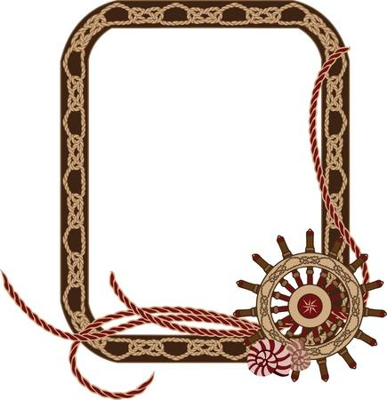 Havs ram med knutar och handhjul