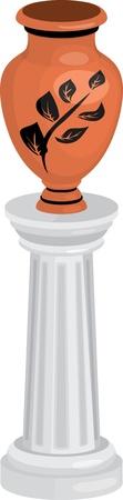 decorative urn: Ancient Greek amphora on column
