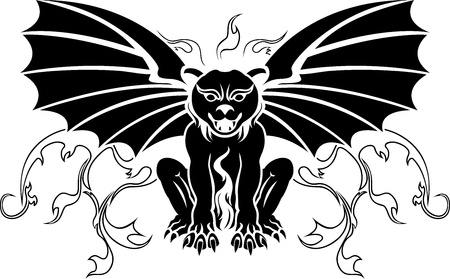 waterspuwer: Gargoyle stencil decoratie