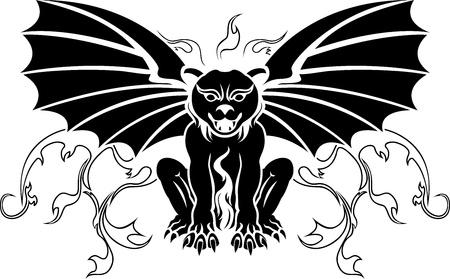cliche: Gargoyle stencil decoration Illustration