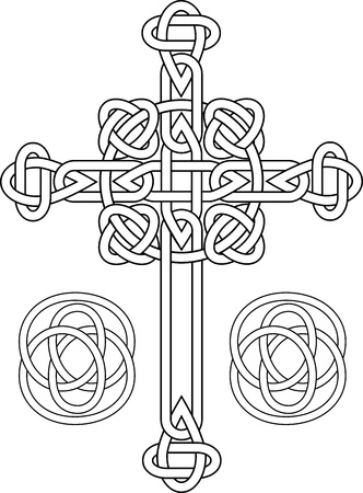 Knotted celtic cross stencil Stock Vector - 14100652
