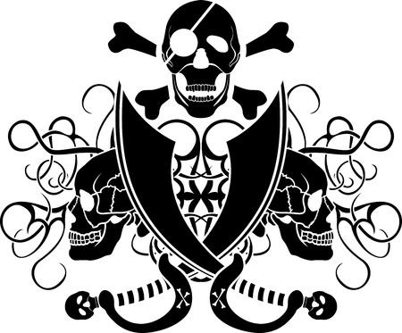 piracy tattoo Vector