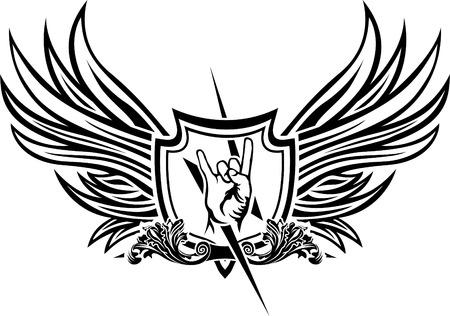Vector symbol of rock  n  roll Vector