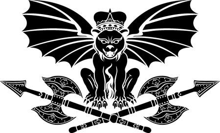 gargoyle: gargoule with axe