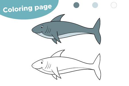 Requin de dessin animé mignon pour les enfants. Jeu éducatif pour les enfants.