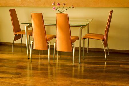 Interior shot of dinning room  photo