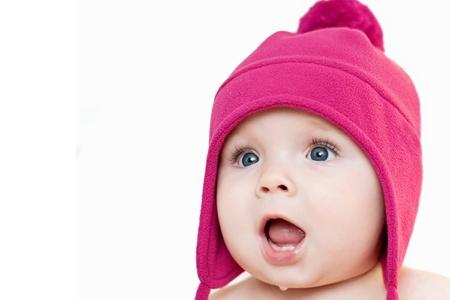 surprised baby 写真素材