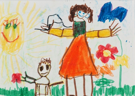 Mommy and I. Child's painting