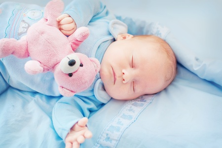 sleeping newborn  写真素材