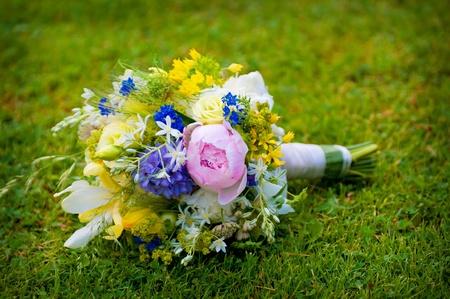 wedding bouquet with wild flowers