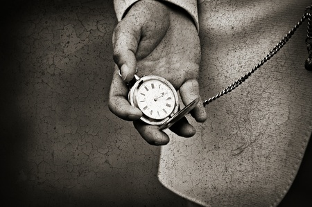 pocketwatch: Old watch in the hands. Time concept  Stock Photo
