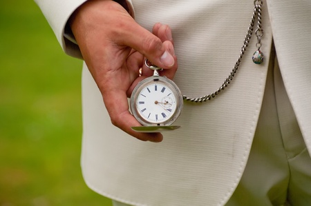 Old pocket watch in the hands.  Time concept 写真素材