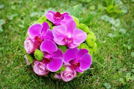 bouquet of purple orchids Stock Photo - 10920635