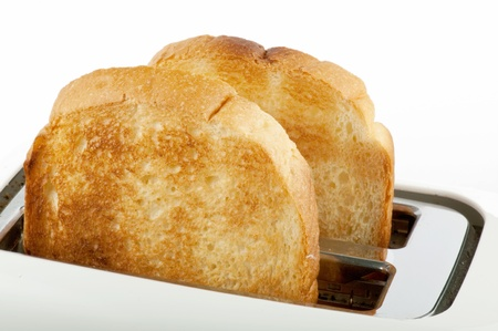 bread in the white toaster photo