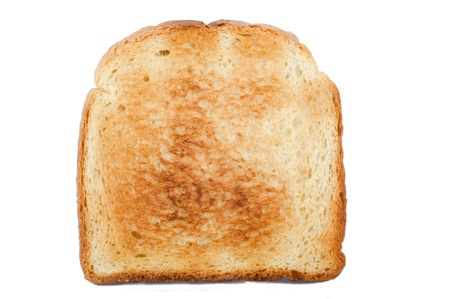one piece: toasted bread on the white background Stock Photo