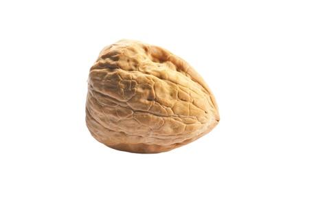 walnut closeup on the white background 写真素材