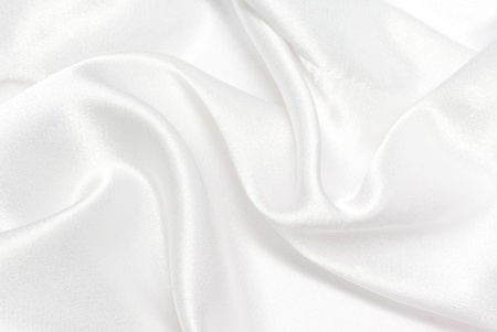 silk cloth: white satin background