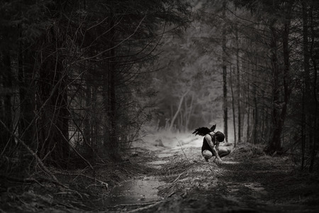 gothic angel: Fantasy image with a fallen angel