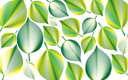 green leaves abstract background natural vector image