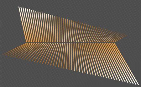 Abstraction orange lines dark background Ilustração Vetorial